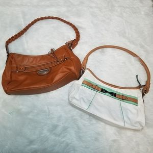 Rossetti Leather Purses, Brown & White
